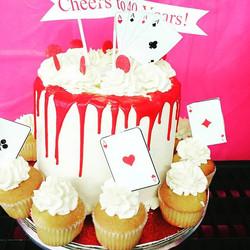 Simple 3Red Velvet cream cheese birthday