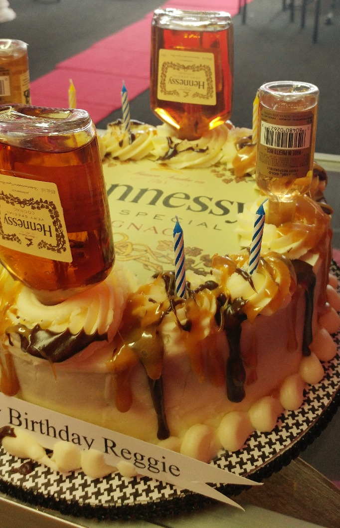 Caramel and Chocolate Hennessy cake