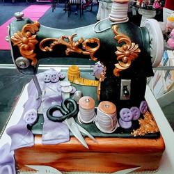 Sew what!!!! Vanilla cake_Servings- 25 _