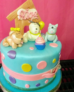 ❤lil fat ol puppies​❤_Puppy party cake_S