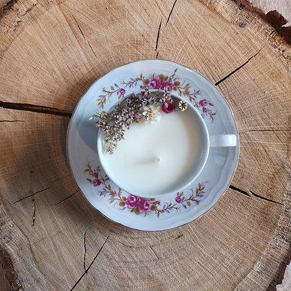Bougie fleurie parfum Guimauve