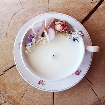 Bougie fleurie parfum Figue