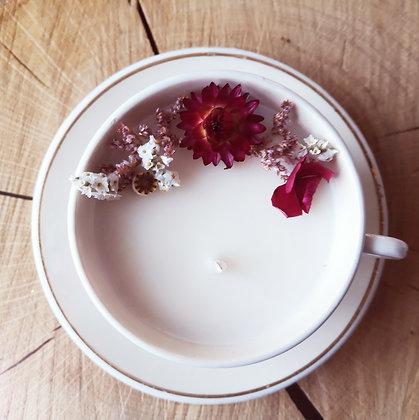Bougie fleurie parfum Lilas