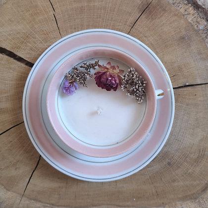 Bougie fleurie parfum Mûre & Myrtilles