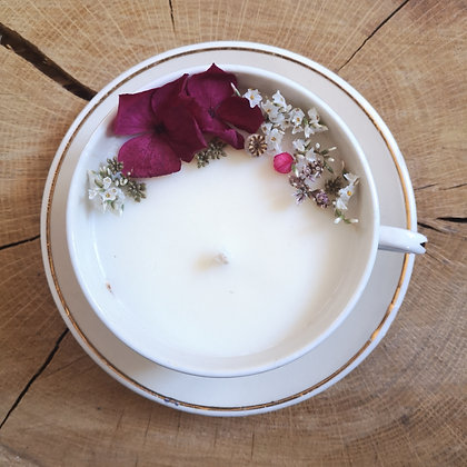 Bougie fleurie parfum Framboise