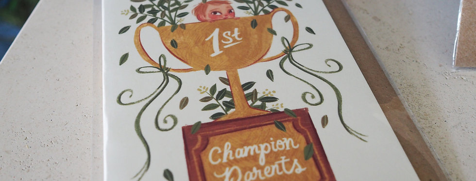 Champion Parents Blank Card