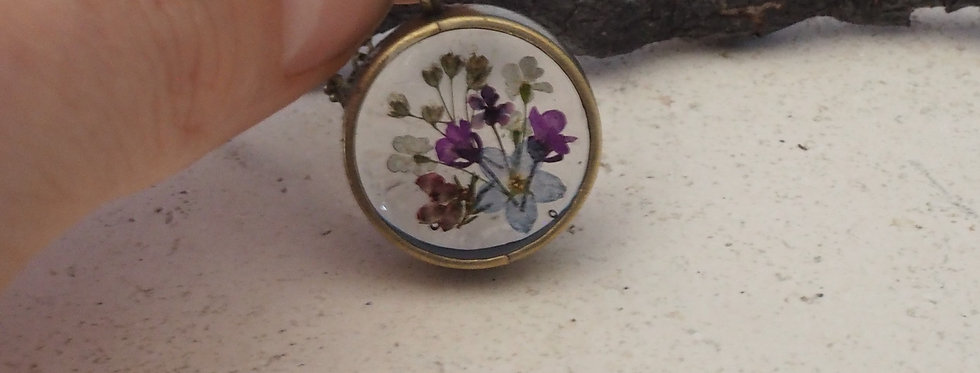Wildflower Small  Locket- Ruby Robin Boutique