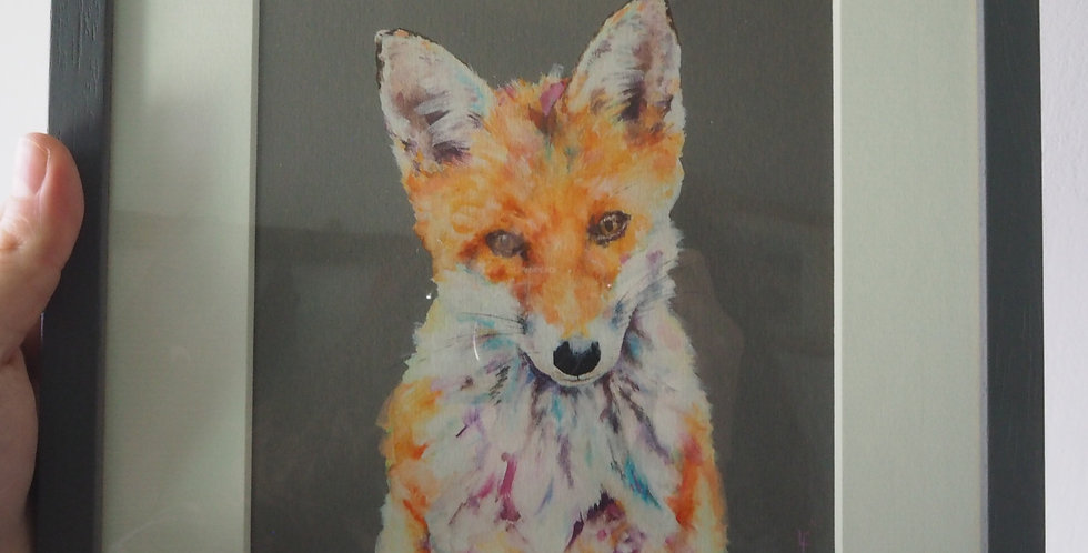 Limited Edition Irish Wildlife Signed Artist Print -Urban Fox