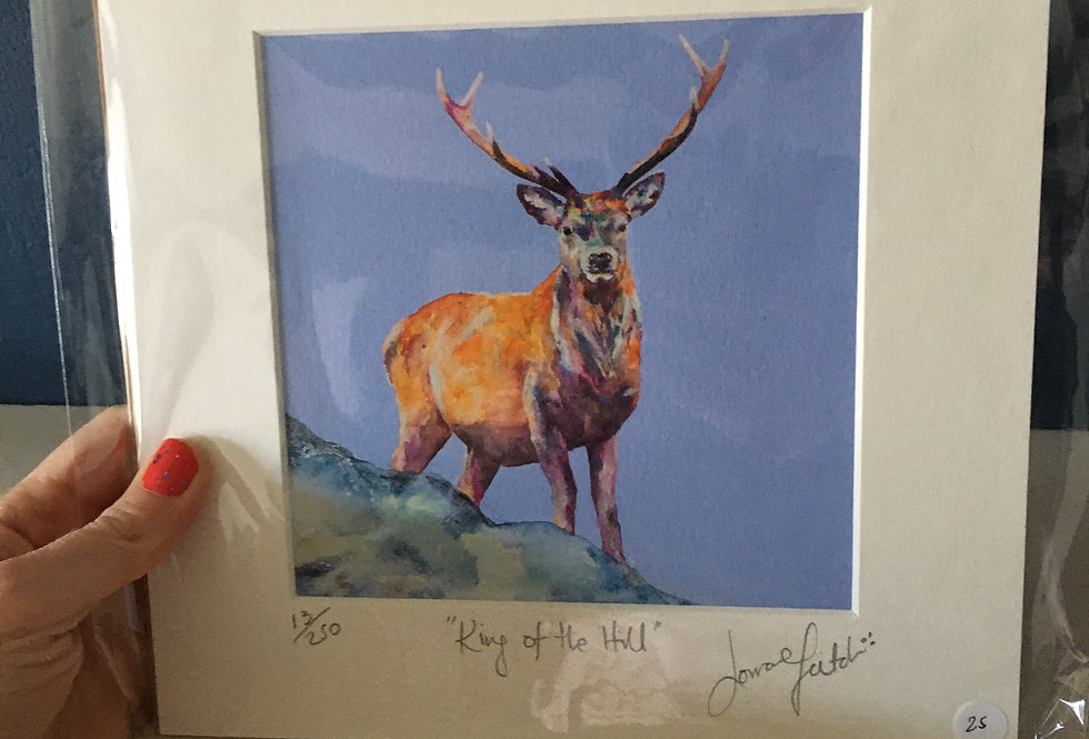 Lorraine Fletcher print- King of the Hill - Stag