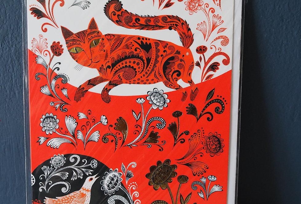 Marmalade Kitty Blank Card