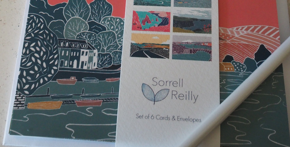 Pack of 6 Irish Landscape cards and envelopes- Sorrel Reilly