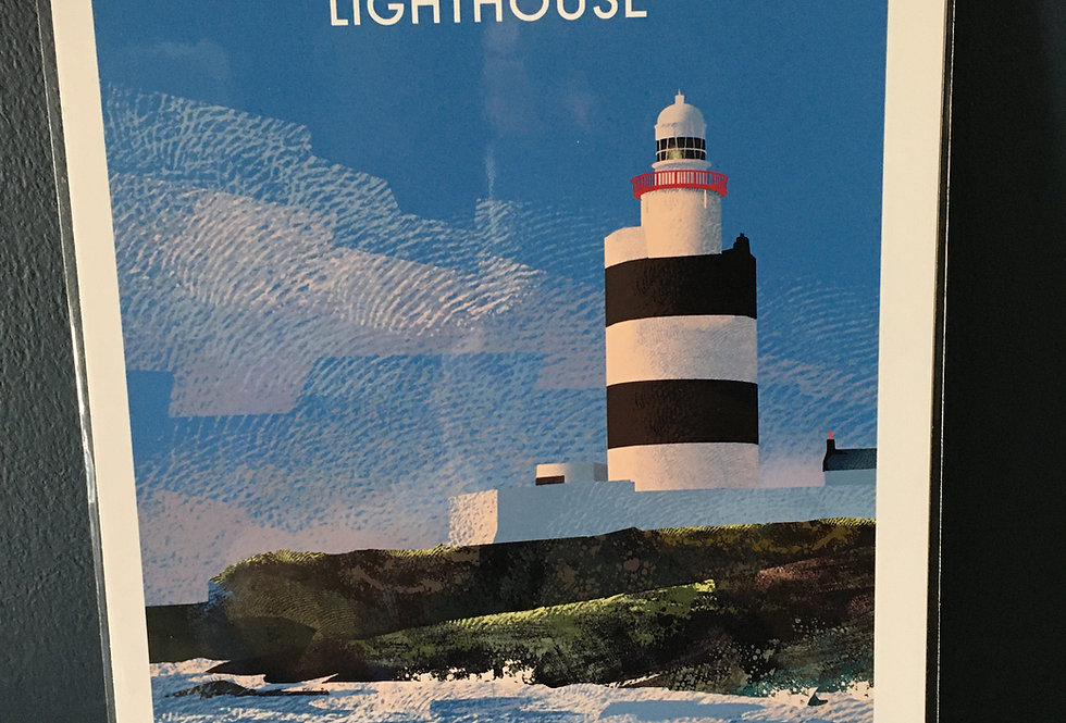 Irish Lighthouse Series A4 Artist Signed Print-Hook Head