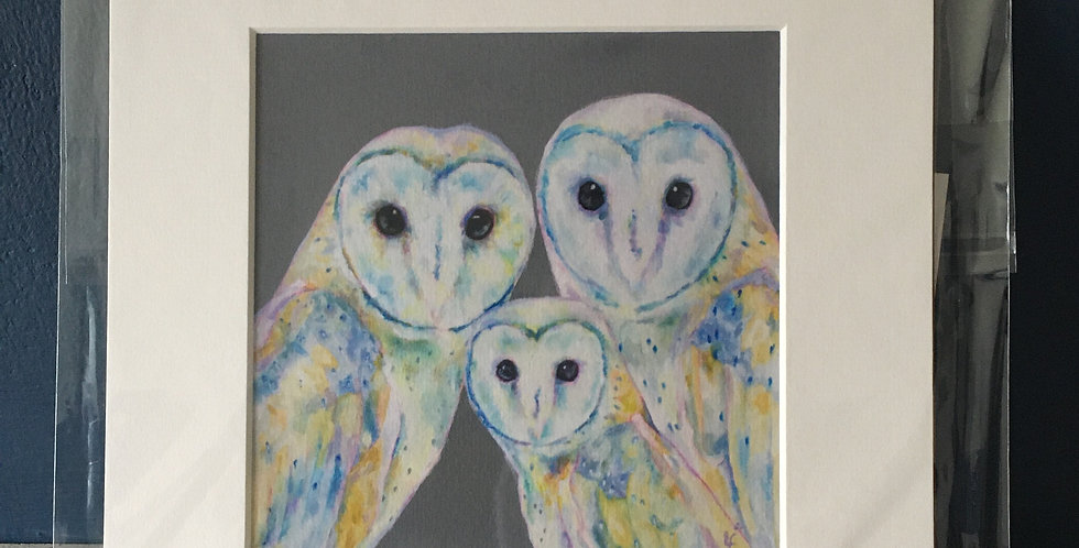 Lorraine Fletcher print - Family is everything- Owls