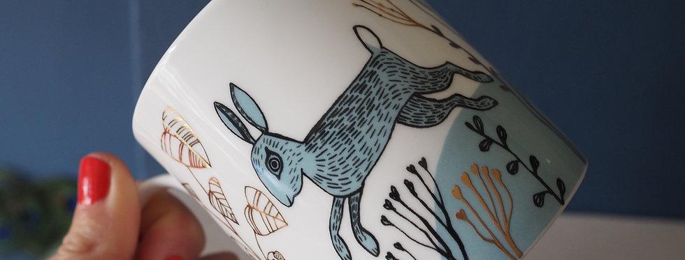 Fine Bone China Mug - Dancing Hare