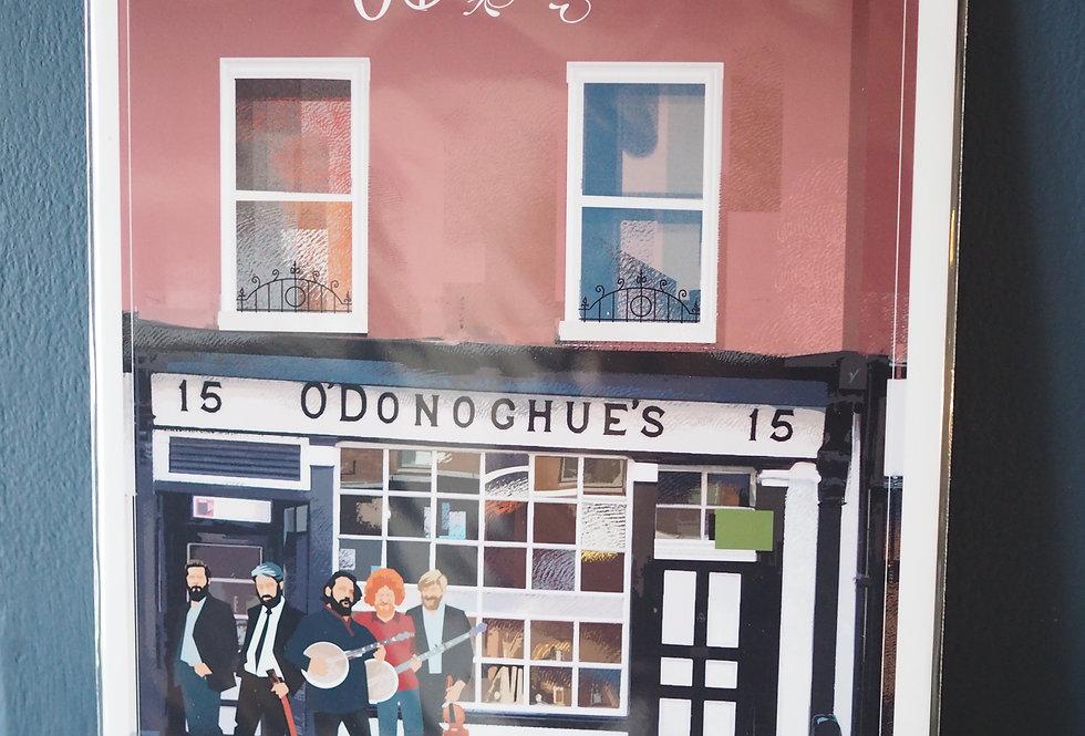 Irish Pub Series Print A4 - O' Donoghues- Dublin