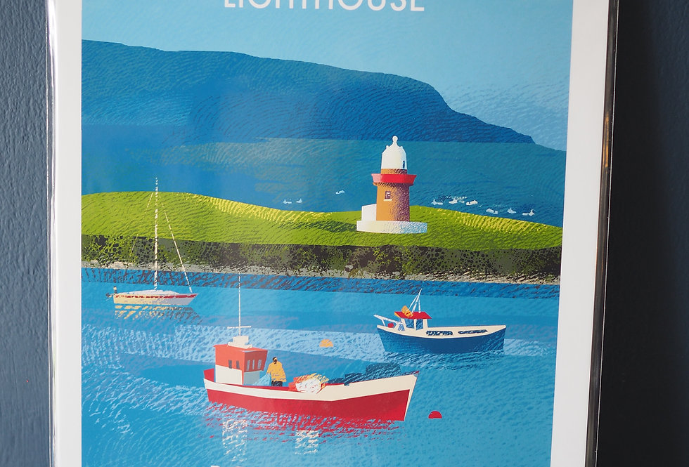 Irish Lighthouse Series A4 Artist Signed Print-Oyster Island