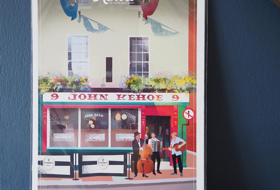 Irish Pub Series Print A4 -Kehoe's- Dublin