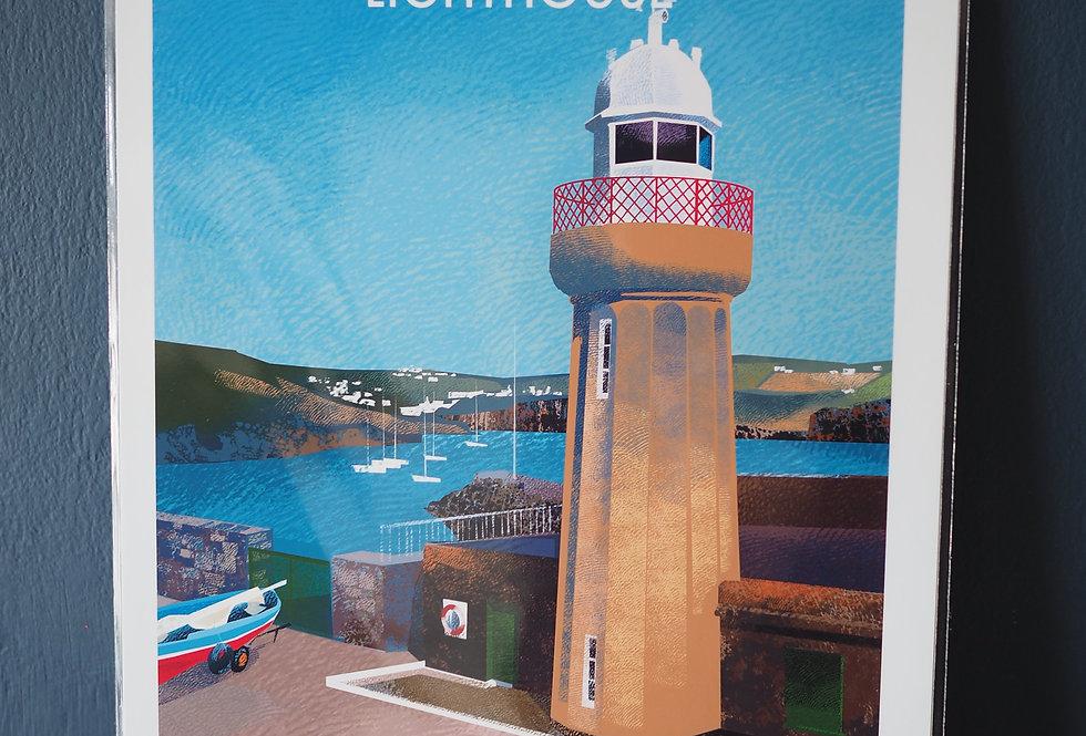 Irish Lighthouse Series A4 Artist Signed Print-Dunmore East