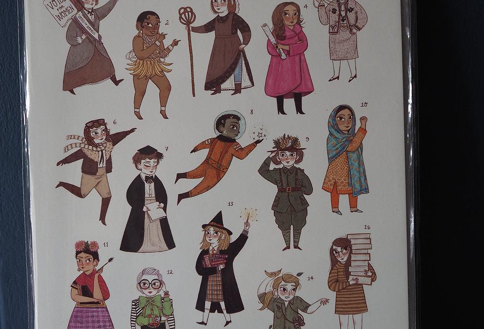 Little Woman Big Ideas A4 Artist Print