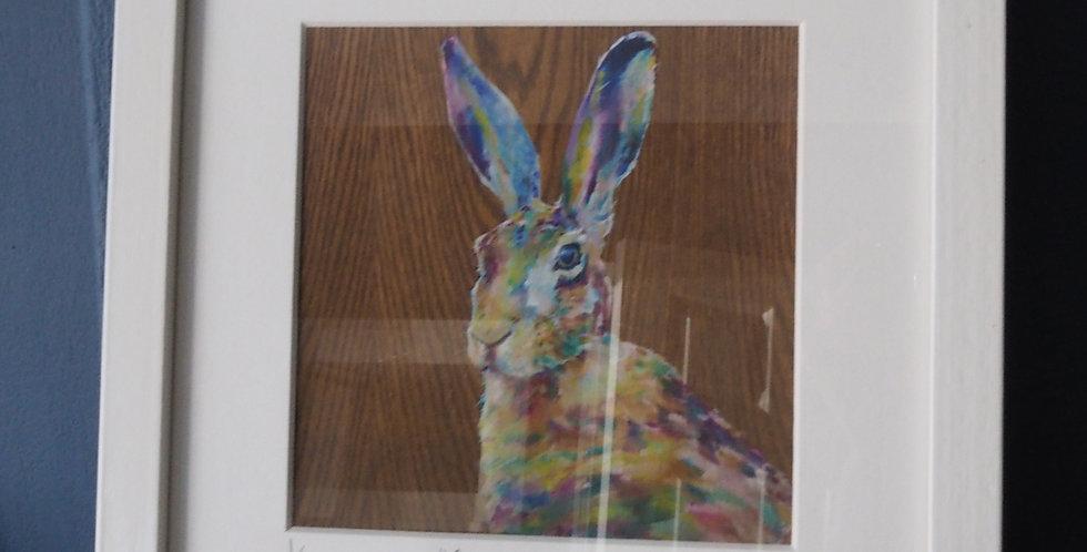Gone Tomorrow- Limited Edition Signed Irish Artist Print - Hare