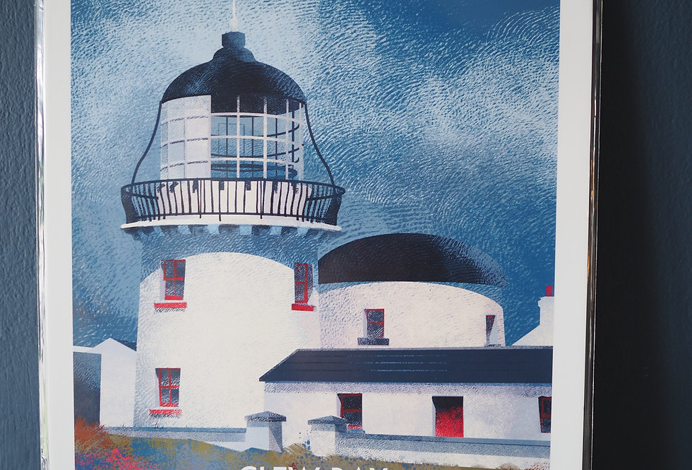 Irish Lighthouse Series A4 Artist Signed Print-Clare Island