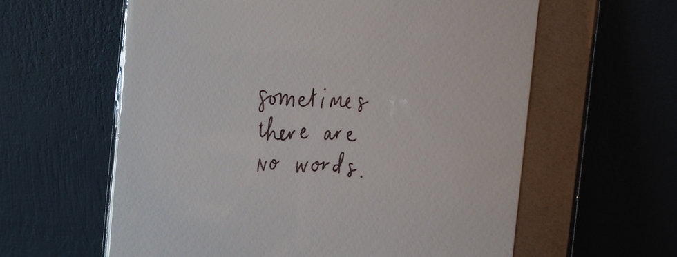 Sometimes there are no words card- pickled pom pom