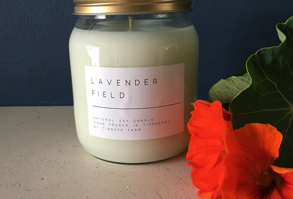 Lavender Field Tinnock Farms Soy Wax Candle