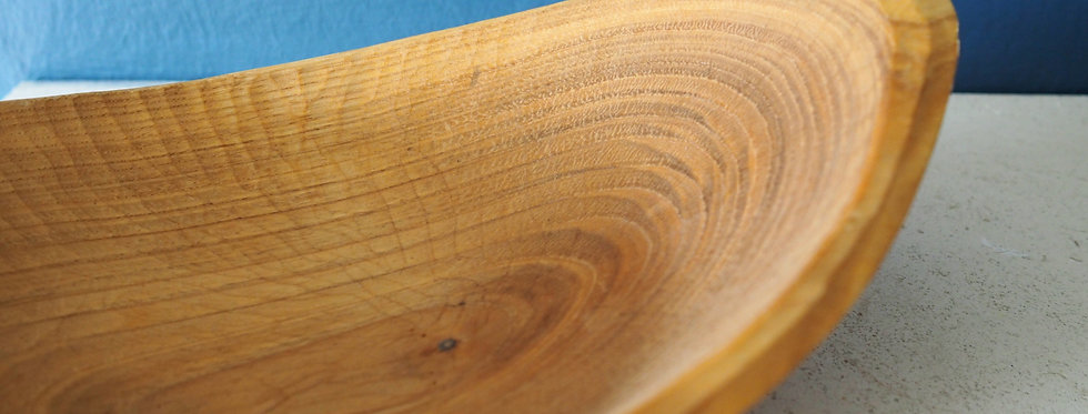 Handcraved Greenwood Working Curved Wooden Dish