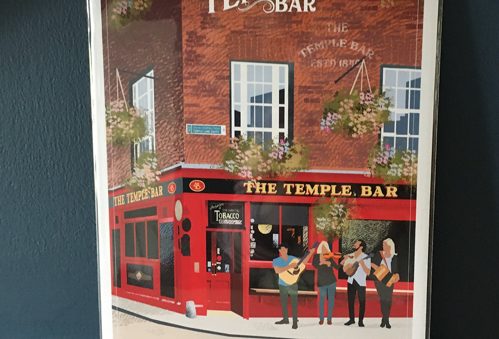 The TempleBar Artist Signed Open Edition Print- Pub Series- Roger O Reilly