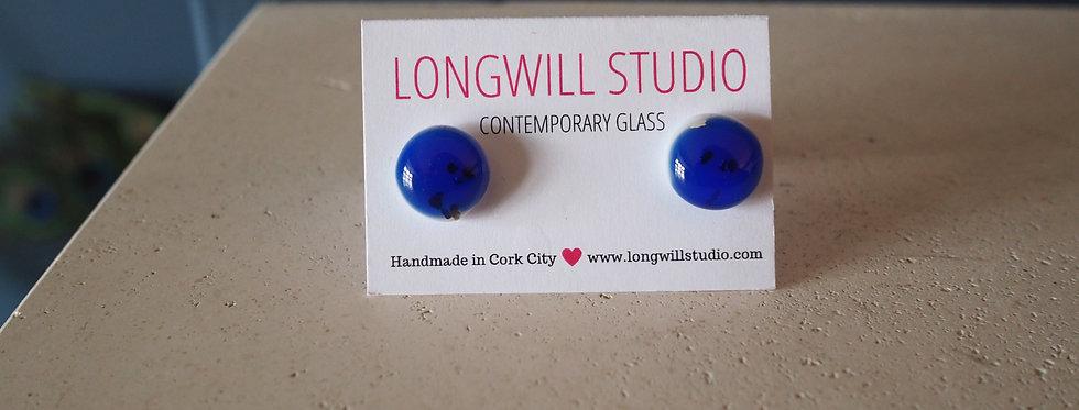 Funky glass stud earrings- Longwill Studios