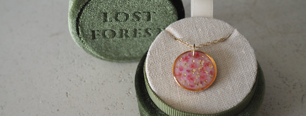 Wildflower Pixie Necklace With Pink Tones - Lost Forest
