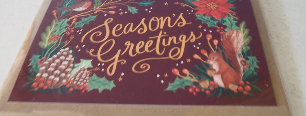 Irish Christmas Card- Seasons Greetings Rachel Corcoran