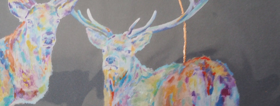 Together We Stand Stag Limited Edition Irish Artist Prints - Lorraine Fletcher