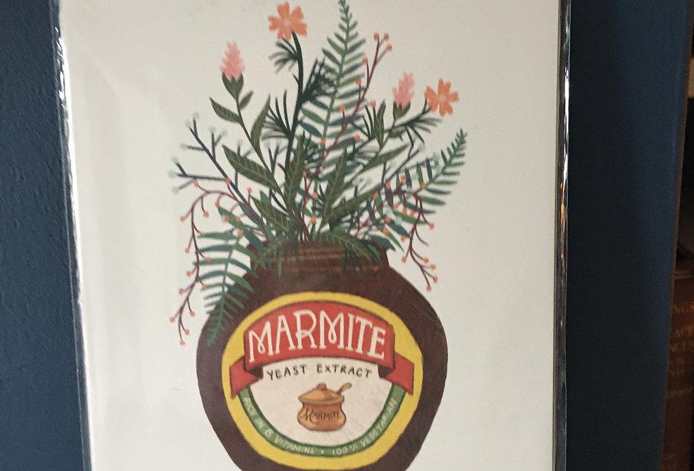 Marmite Botanical Bouquet- Signed Artist A4 Print
