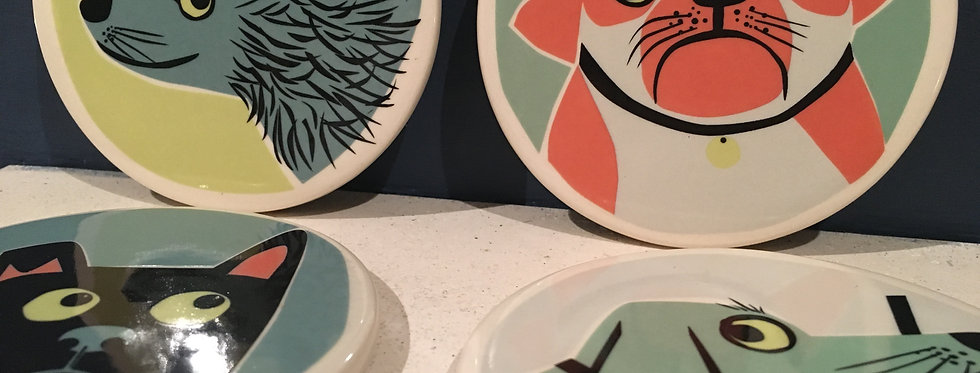 Dog Ceramics Coasters