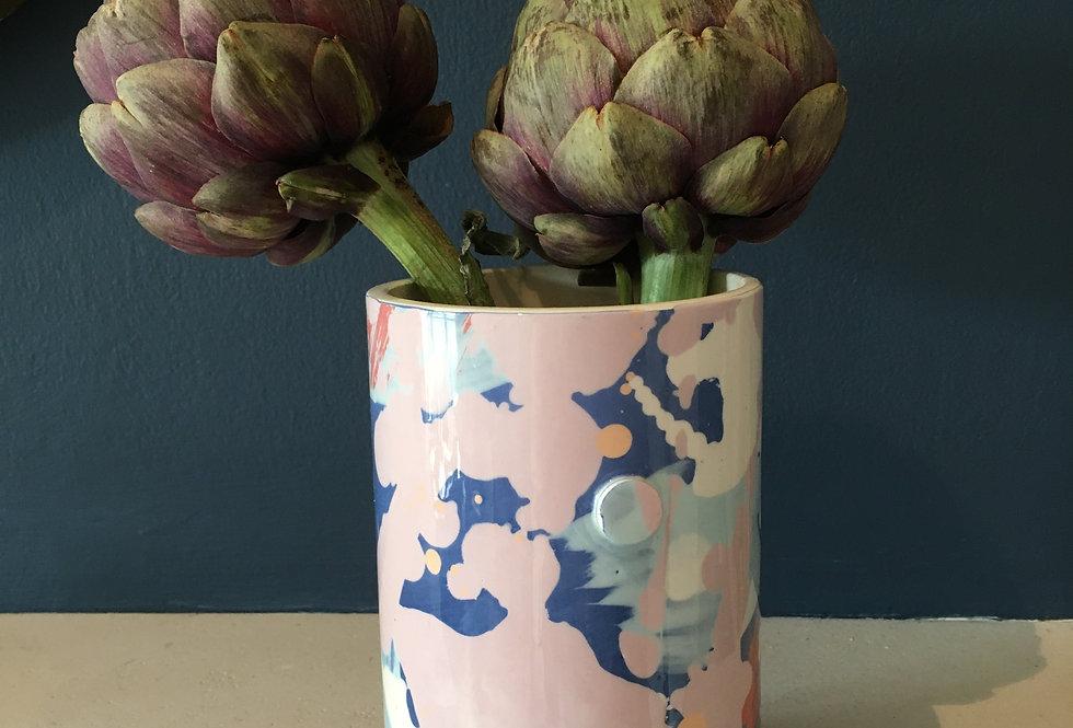 Pastel Tones Utensil Pot / Vase - Aoife Slattery