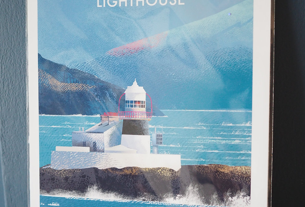 Irish Lighthouse Series A4 Artist Signed Print- Roancarrig