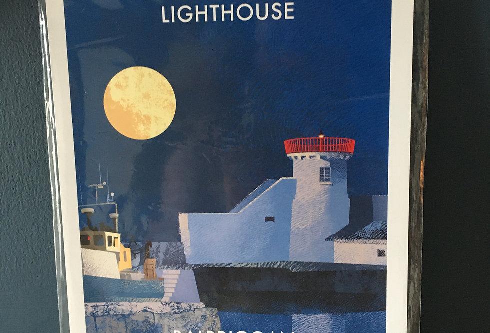 Irish Lighthouse Series A4 Artist Signed Print-Balbriggan