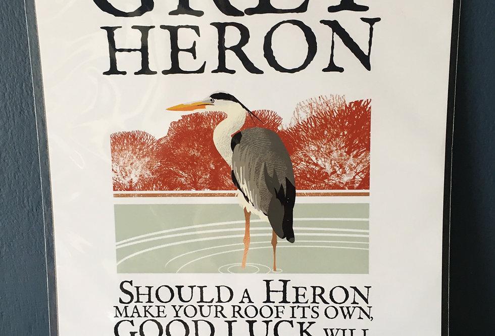 Birds of Ireland Series - Grey Heron