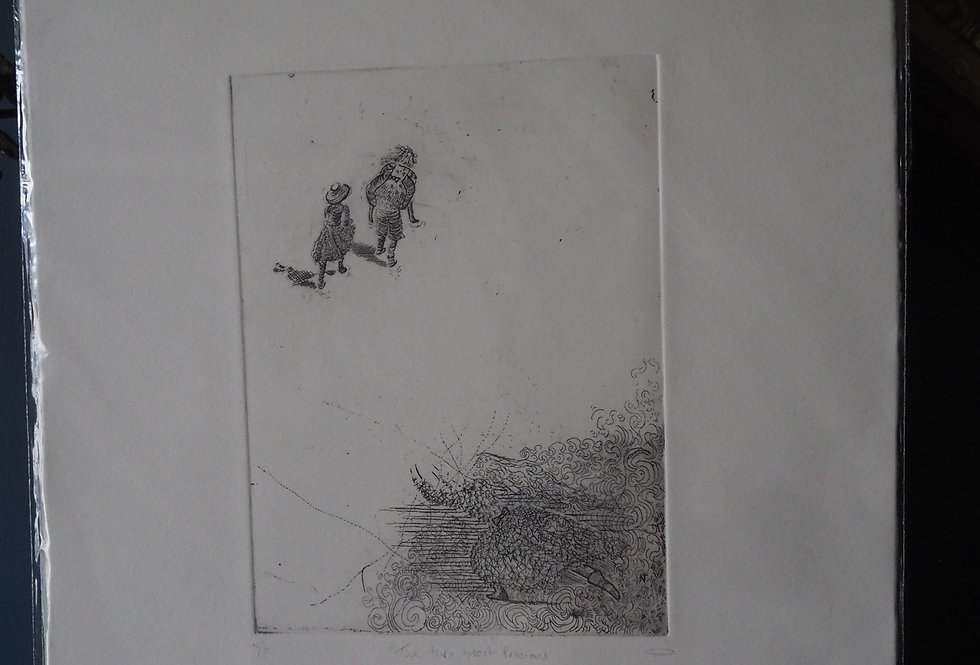 Fine Art Etching -  Nicole Tilley Two Most Precious Things