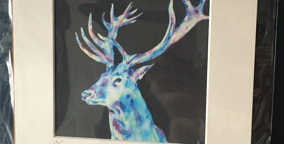 Pride- Irish Stag Head Mounted print