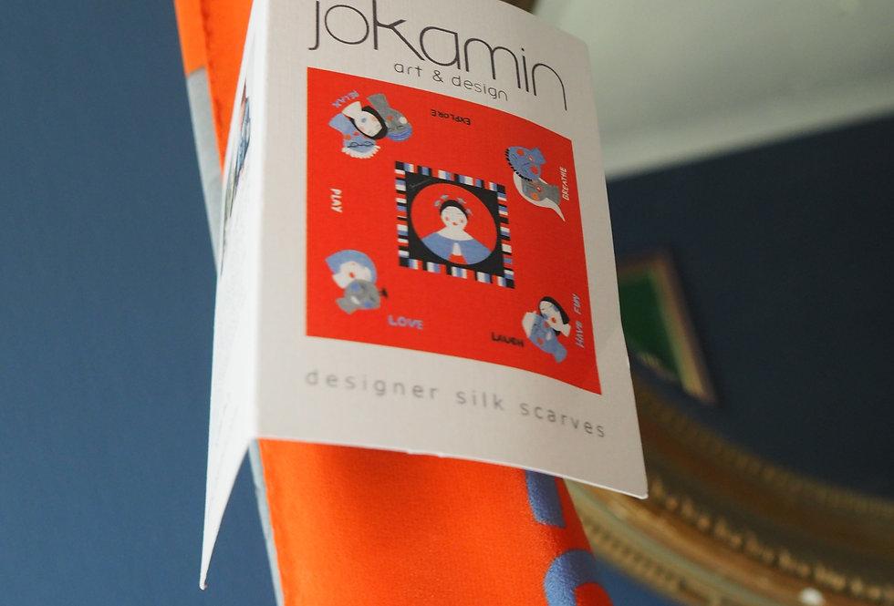 Designer Silk Art Scarf - Jokamin