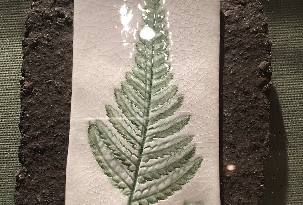 Fern Botanical Ceramic Artwork