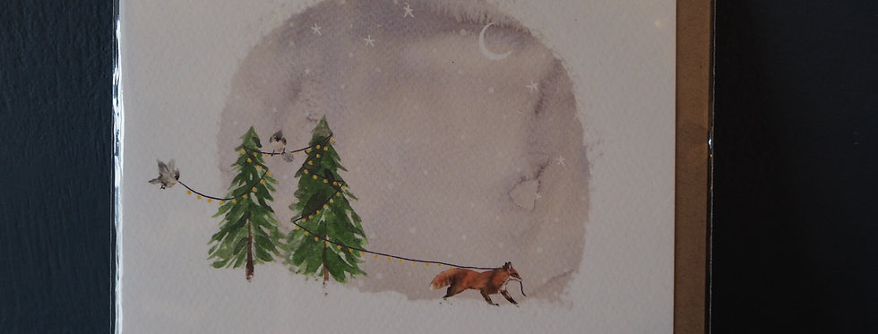 Make it Magic Christmas Card- Pickled pom pom