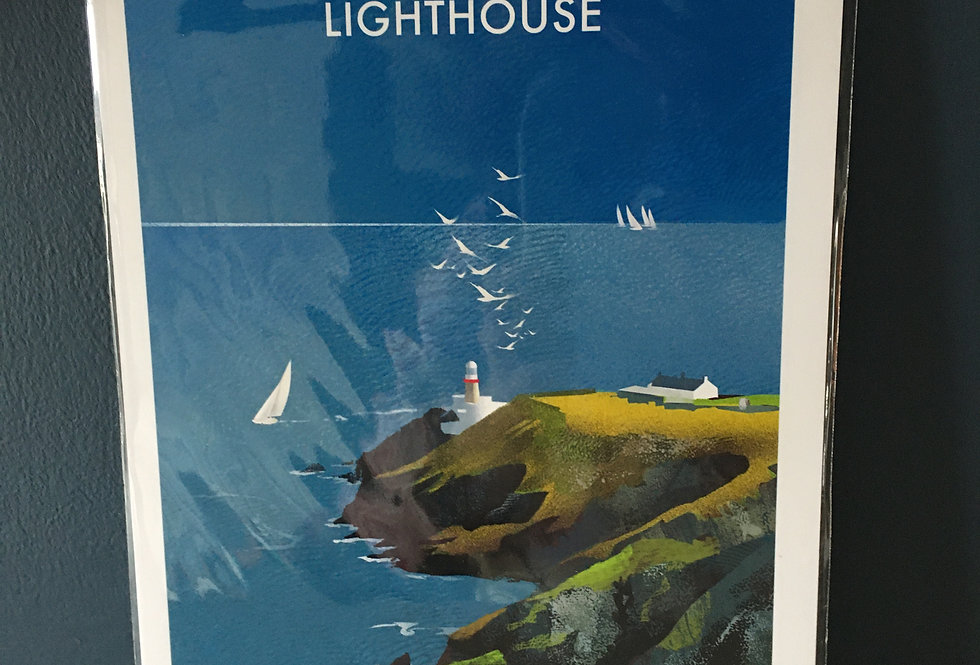 Irish Lighthouse Series A4 Artist Signed Print-The Bailey Howth