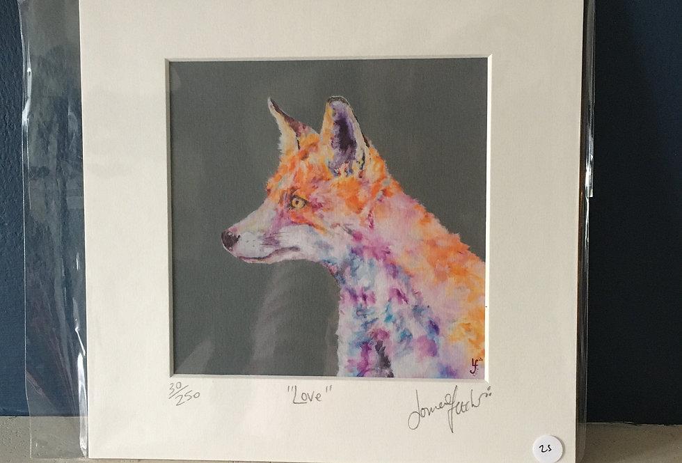 Lorraine Fletcher print-Love- Fox