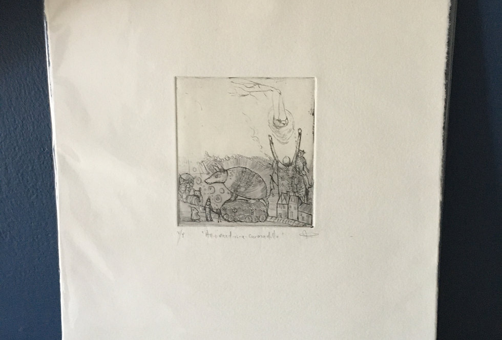 Carmadillo-Artist Etching - Nicole Tilley