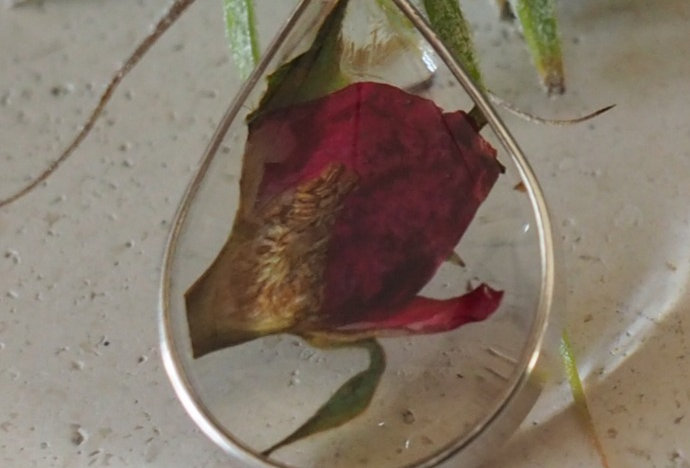 Sterling Silver RoseBud Pendant- Ruby Robin Boutique