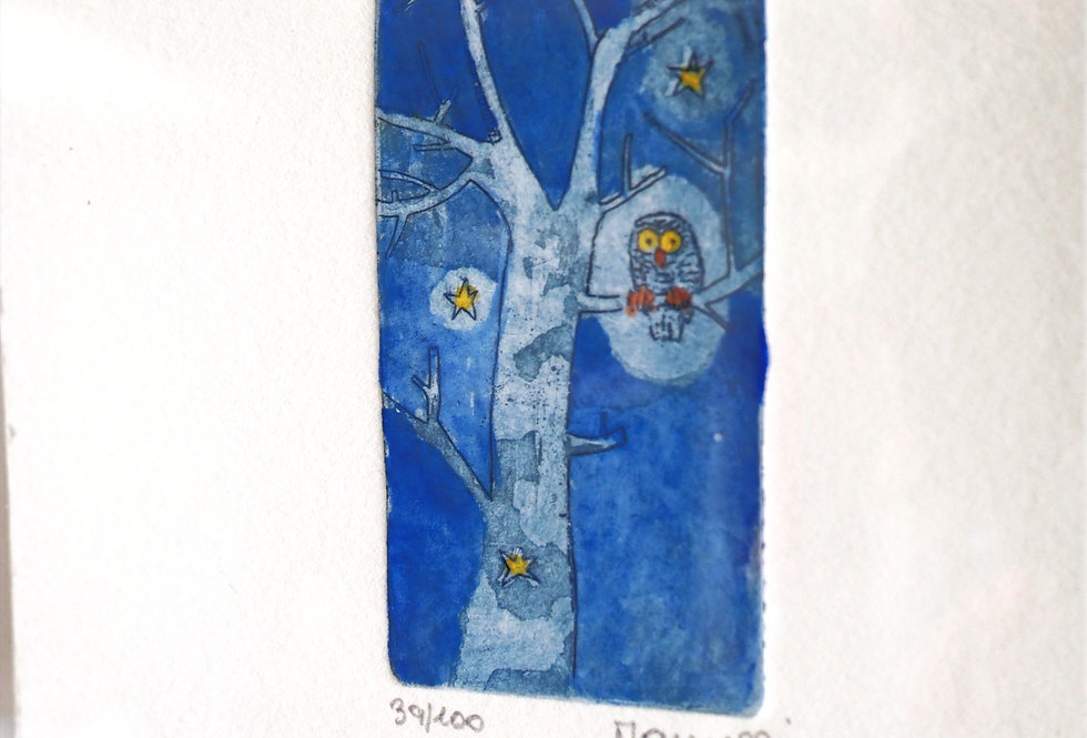 Limited edition etching - Isn't it a Hoot?