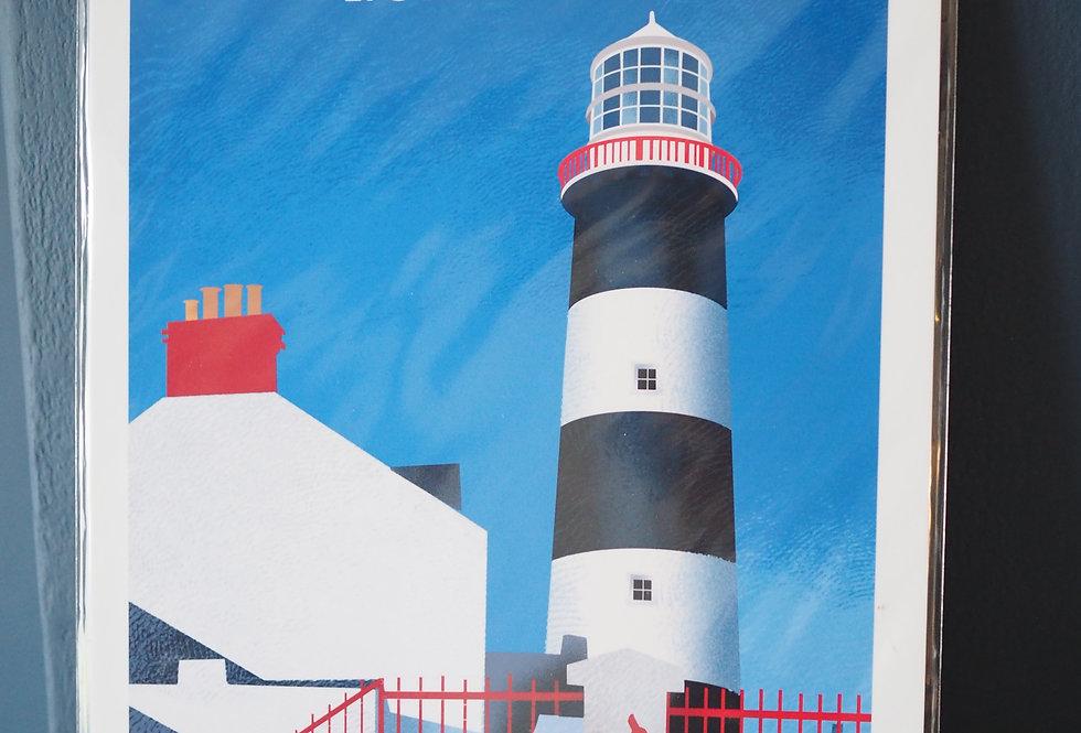 Irish Lighthouse Series A4 Artist Signed Print- Kinsale